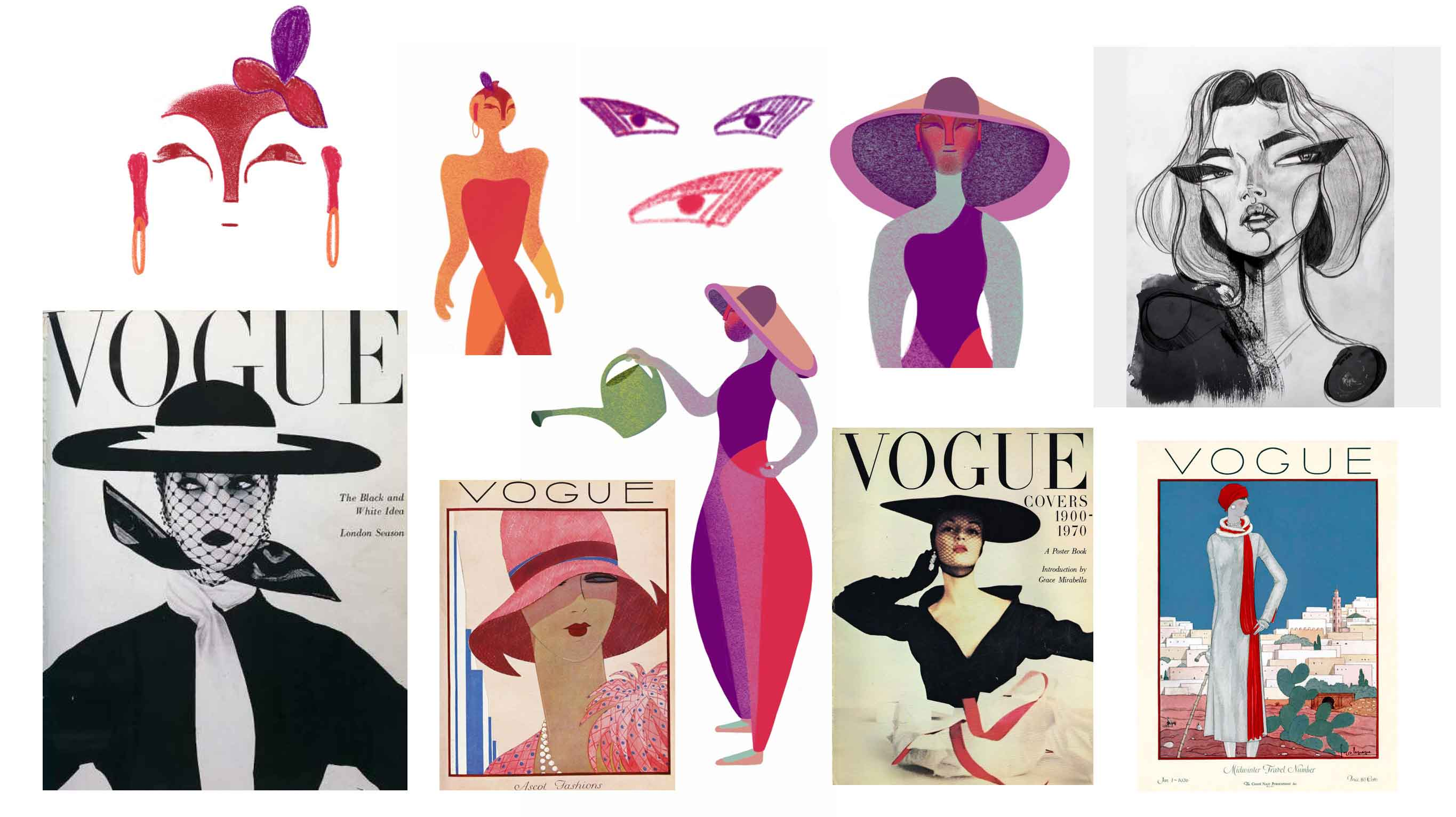 Worksheet looking at Vogue magazine covers