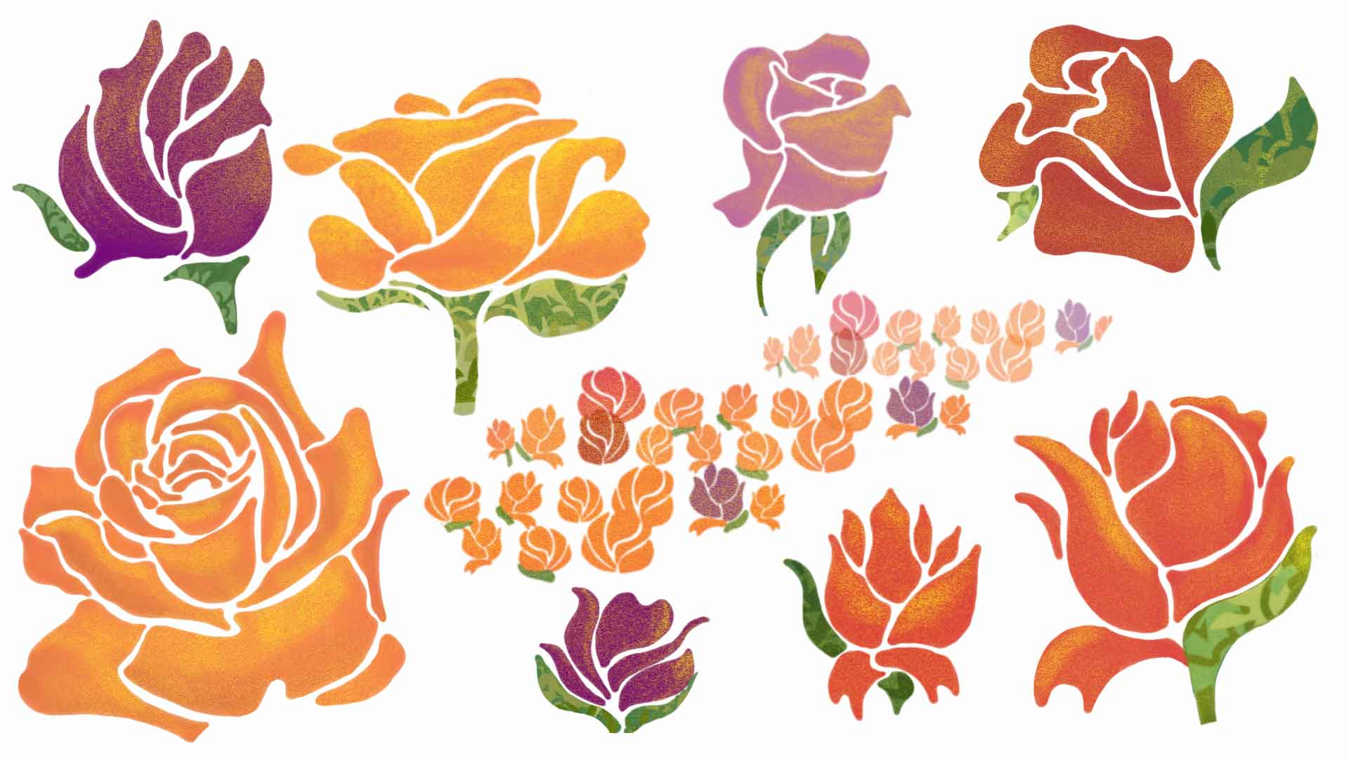 Orange and Pink Flower Study