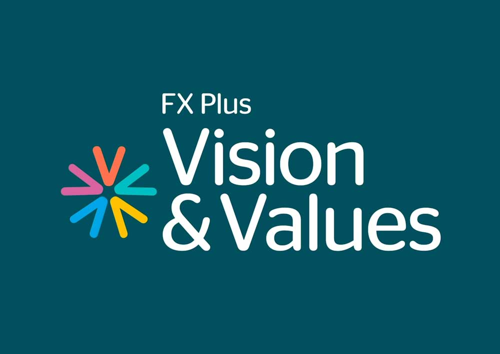 FX Plus Vision & Values Logo