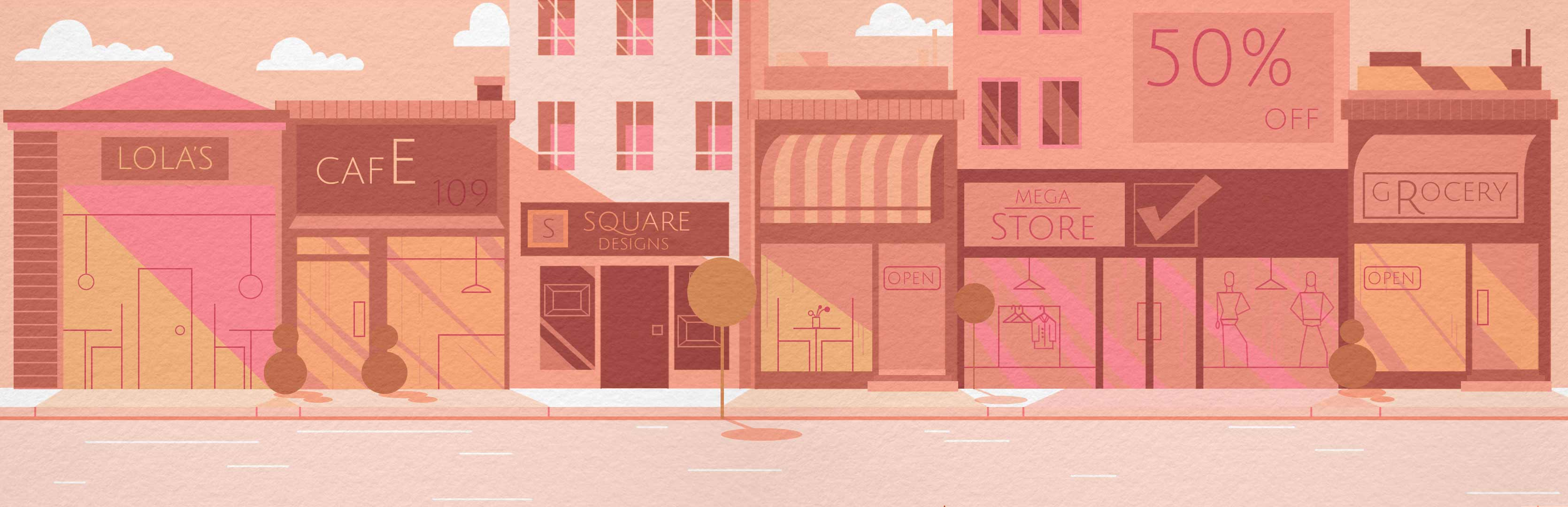 Graphic illustration of street 3
